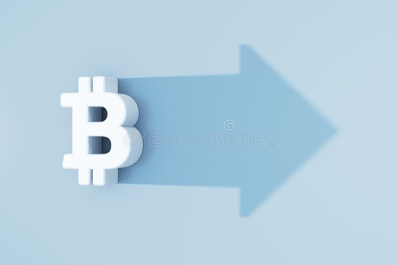 Det v?xande bitcoinsymbolet vektor illustrationer