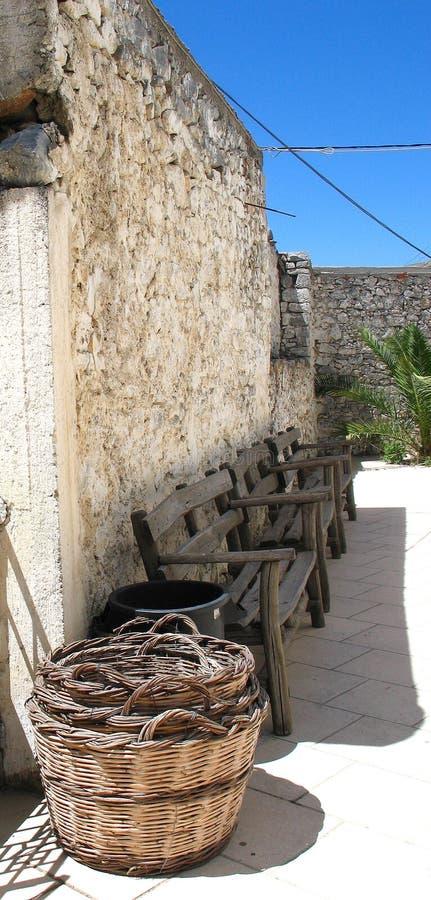 Det vanligaliv i Crete arkivfoto