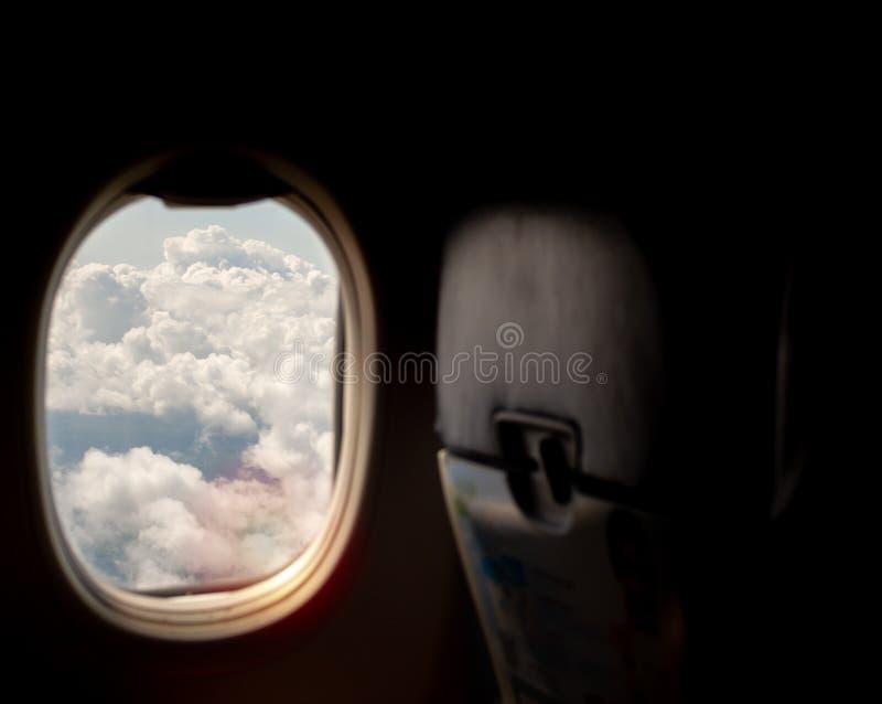 det varaa flygplan har bilden borttagna siktsfönstret royaltyfria foton