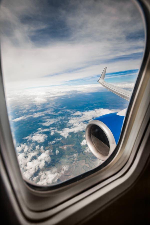 det varaa flygplan har bilden borttagna siktsfönstret arkivbilder