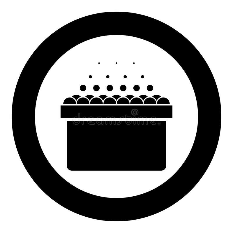 Det varma bubbelpoolSpa badkaret med skumbubblor badar för att koppla av symbolen för badrumbadbrunnsorten i för färgvektor f stock illustrationer