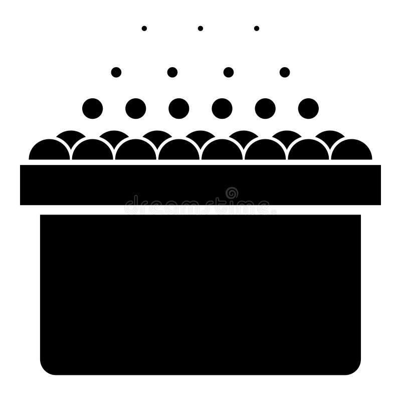 Det varma bubbelpoolSpa badkaret med skumbubblor badar kopplar av bild för stil för svart för färg för symbol för badrumbadbrunns vektor illustrationer