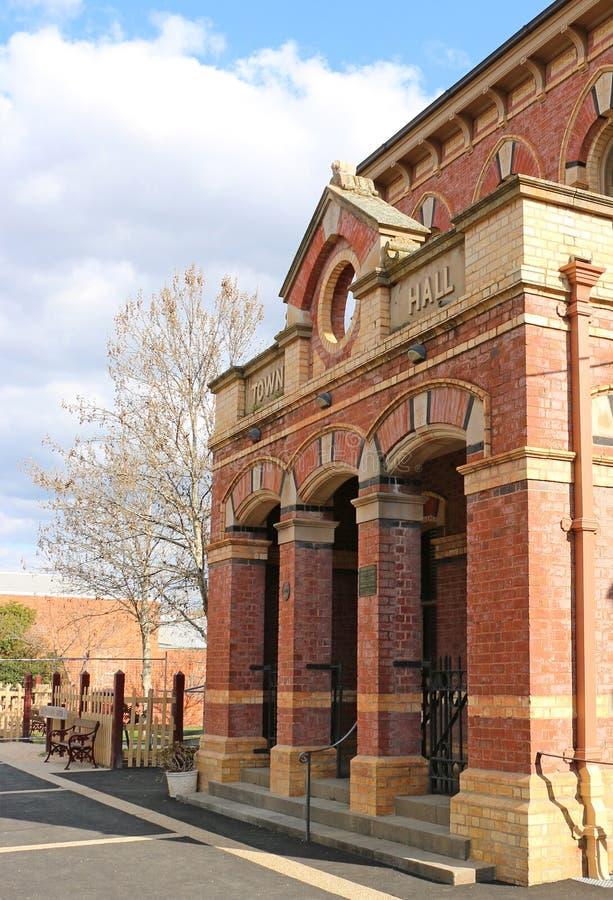 Det Venetian gotiska stadshuset 1887 konstruerades ursprungligen i 1884 som domstolsbyggnaden under Dunollys guldruschdagar royaltyfri foto