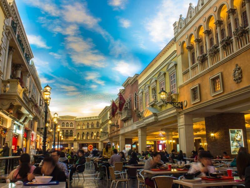 Det Venetian hotellet, Macao royaltyfria foton