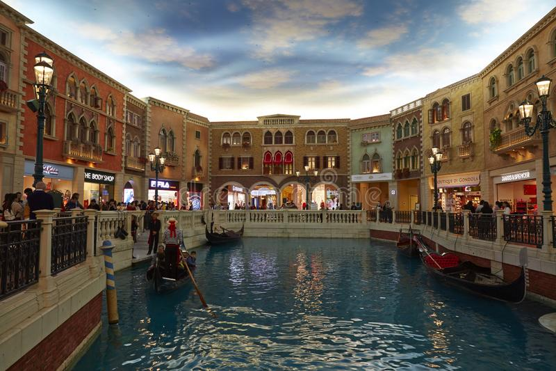 Det Venetian Macao semesterorthotellet med samlas handelsresande, Macao