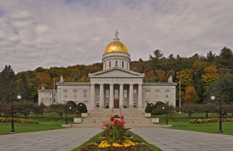Det Vermont stathuset i Montpelier, Vermont, USA arkivbild