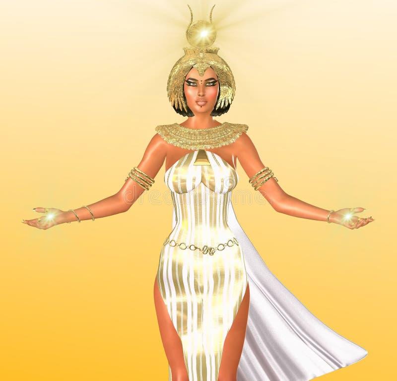 Det vita ljuset av Egypten royaltyfri illustrationer
