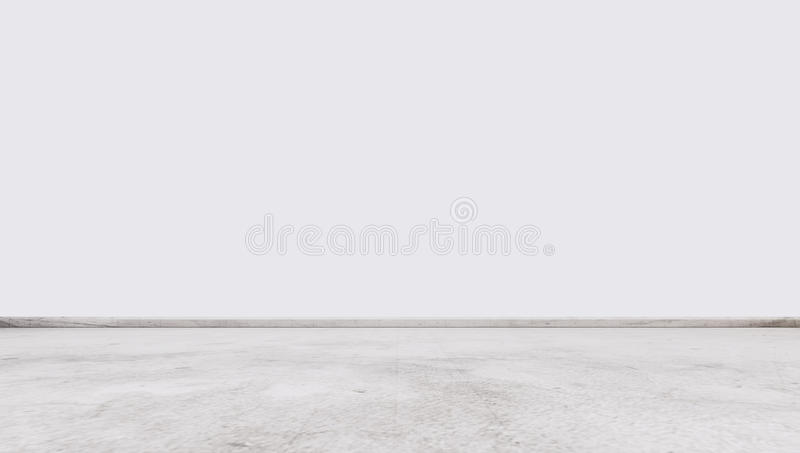 Det vita marmorstengolvet med den vita väggen som är inre tömmer utrymme royaltyfri bild