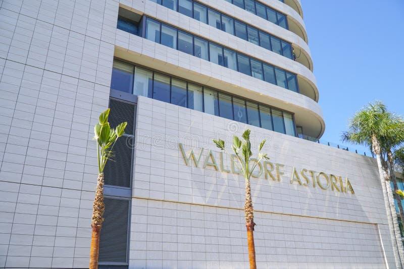 Det Waldorf Astoria hotellet i Beverly Hills - LOS ANGELES - KALIFORNIEN - APRIL 20, 2017 royaltyfria foton