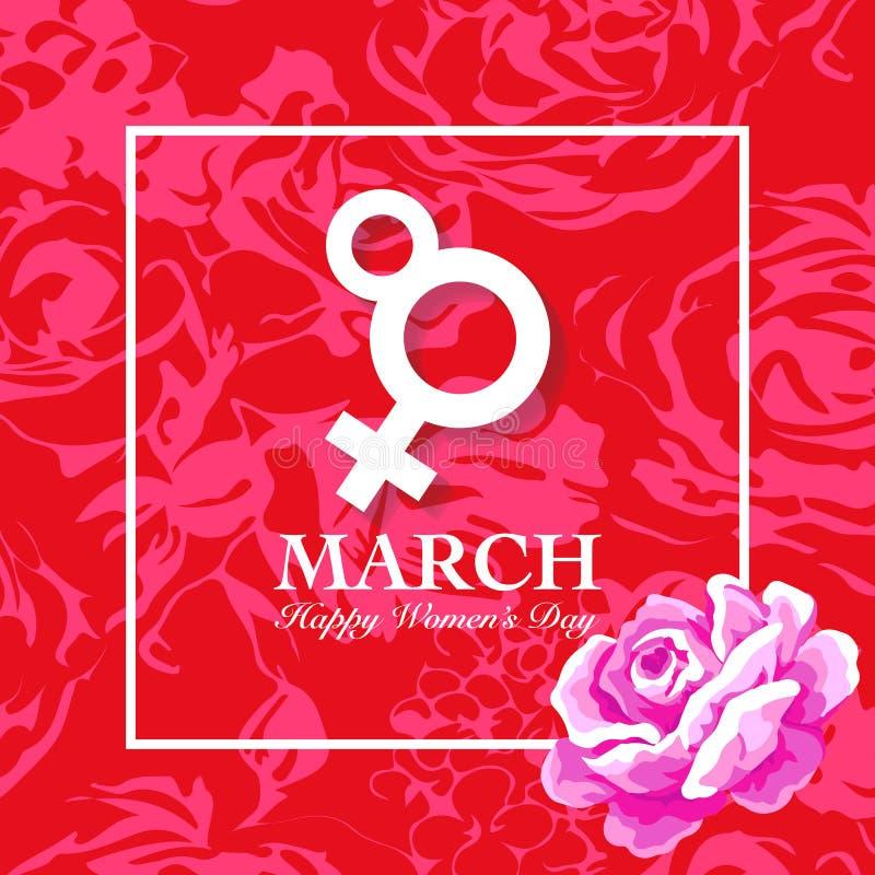 Det Women's dagkortet med steg vektor illustrationer