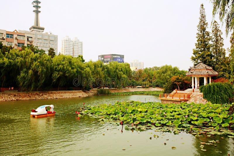 Det Zhengzhou Zijing berget parkerar arkivbild