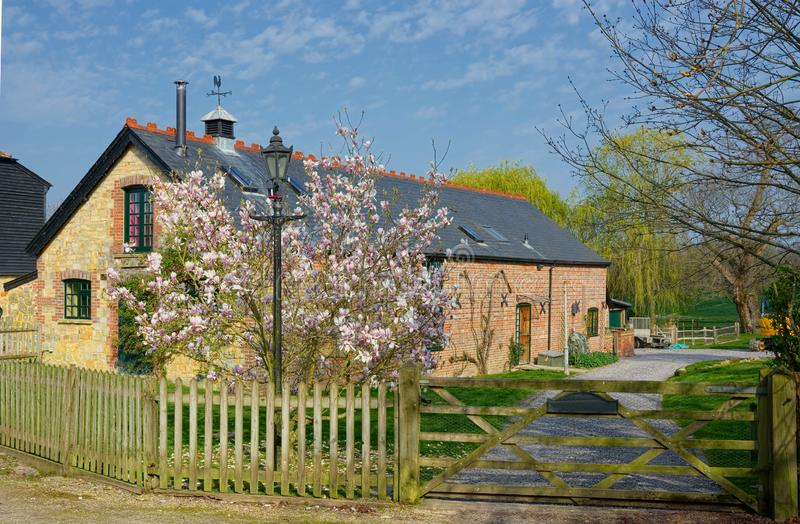 Detached Country cottage. Country lifestyle properties royalty free stock photography