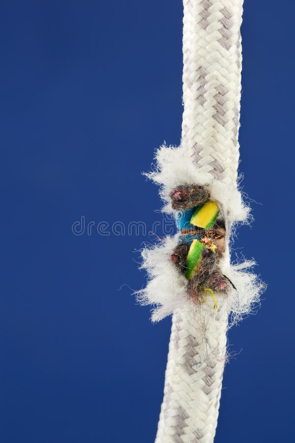 Detached power cord royalty free stock image