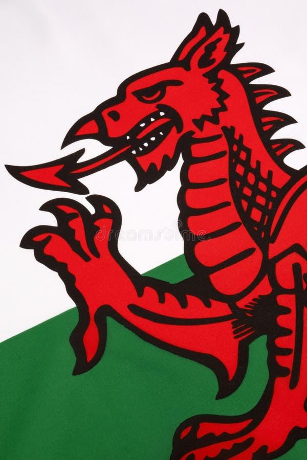 Detail über die Flagge von Wales - Vereinigtem Königreich lizenzfreies stockfoto