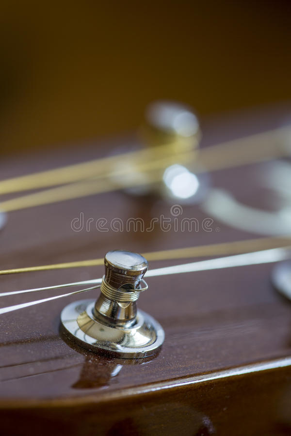 Detail of acoustic guitar royalty free stock images