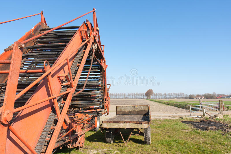 Download Detail From An Agricultural Machine Stock Image - Image of agricultural, blue: 24091759
