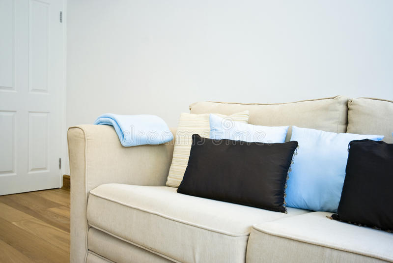 Detail Of An Amazing Beige Sofa With Cushions Stock Image ... - photo#30