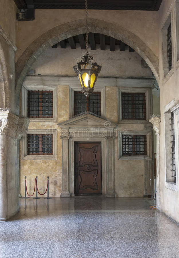 Detail of an ancient palace in Venice royalty free stock photography