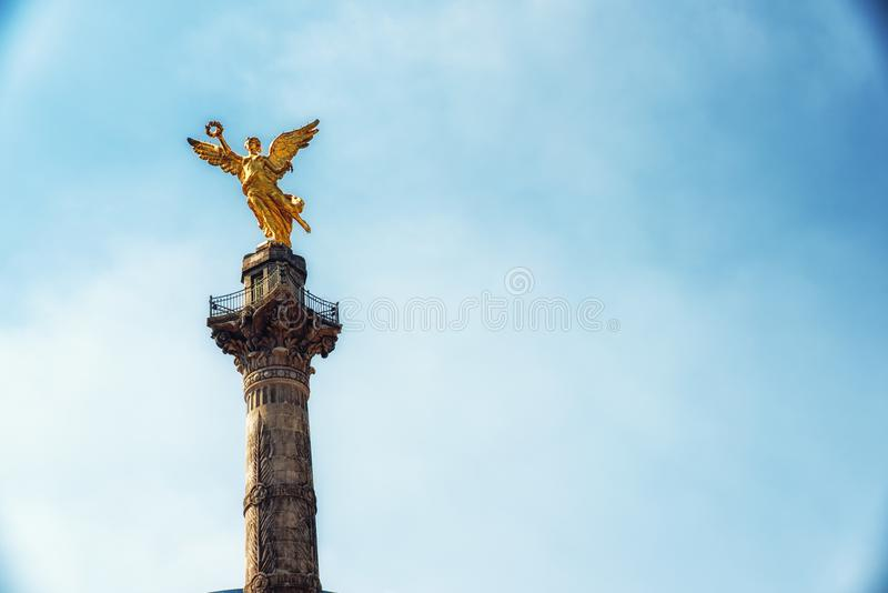 Angel of Independence Monument - Mexico City, Mexico. Detail of Angel of Independence Monument - Mexico City, Mexico stock images