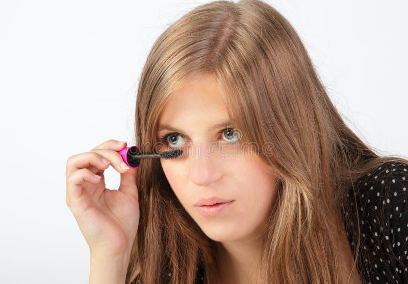 Download Detail applying mascara stock photo. Image of person - 21270830