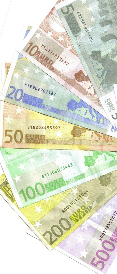Download Detail back euro notes stock image. Image of exchange - 8129839
