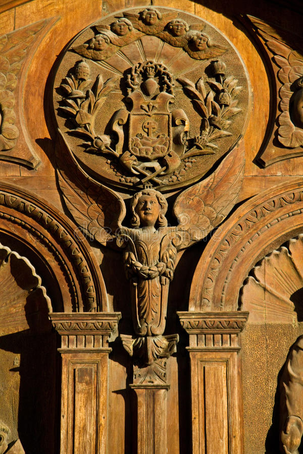 Detail of baroque architecture in San Francisco royalty free stock photo