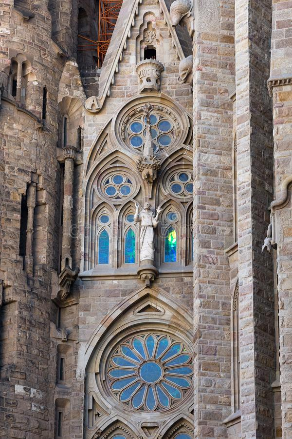Detail of the Basilica and Expiatory Church of the Holy Family. Sagrada de la Familia, Barcelona, Catalonia, Spain stock image