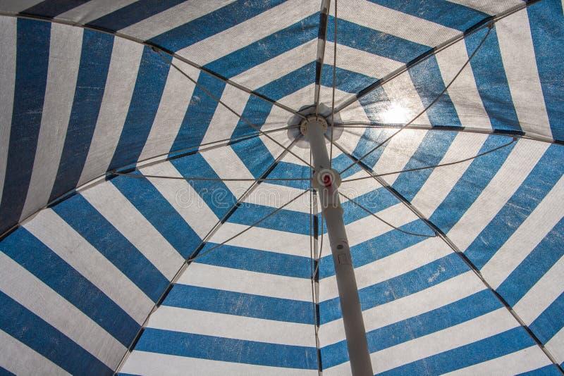 Detail of beach umbrella royalty free stock photography