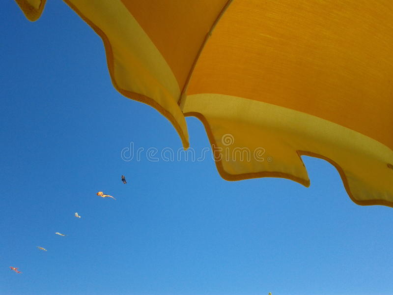 Detail of beach umbrella royalty free stock photos