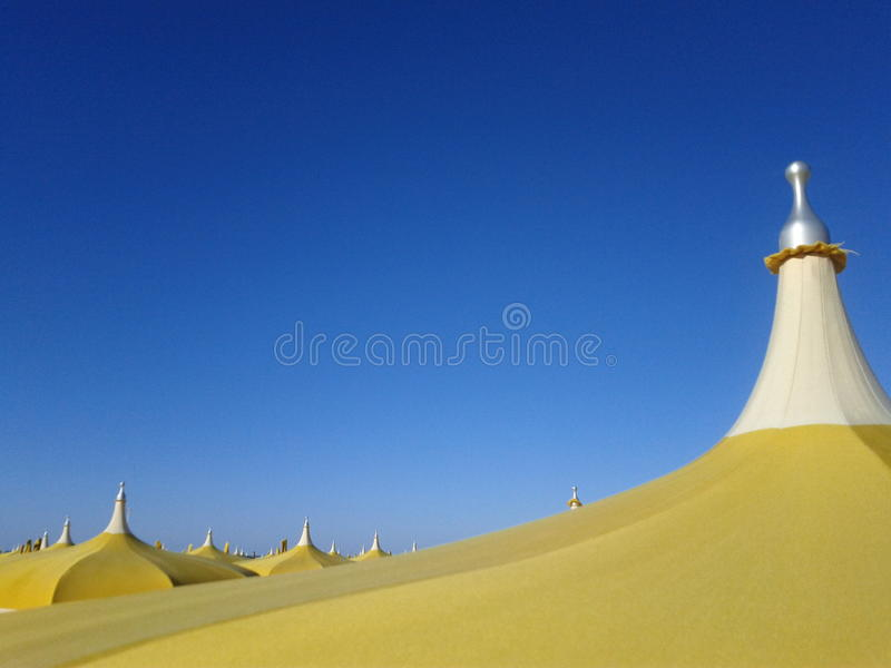 Detail of beach umbrellas royalty free stock images