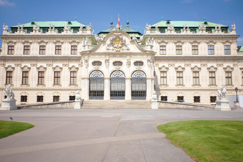 Detail of the Belvedere Palace in Vienna, Austria royalty free stock photos