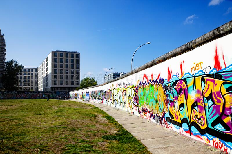 Detail of the Berlin wall stock image
