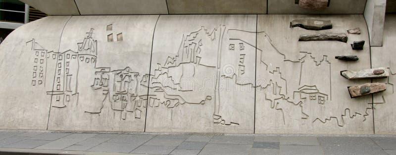 Detail bij het Schotse Parlementsgebouw stock afbeelding
