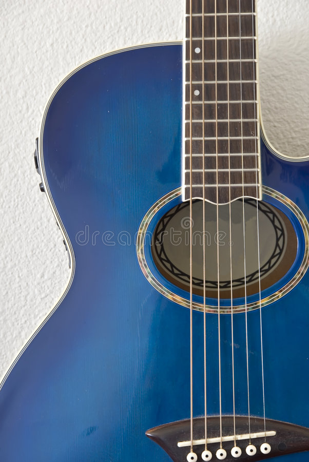 Download Detail Of Blue Acoustic Guitar Stock Photo - Image: 2319780