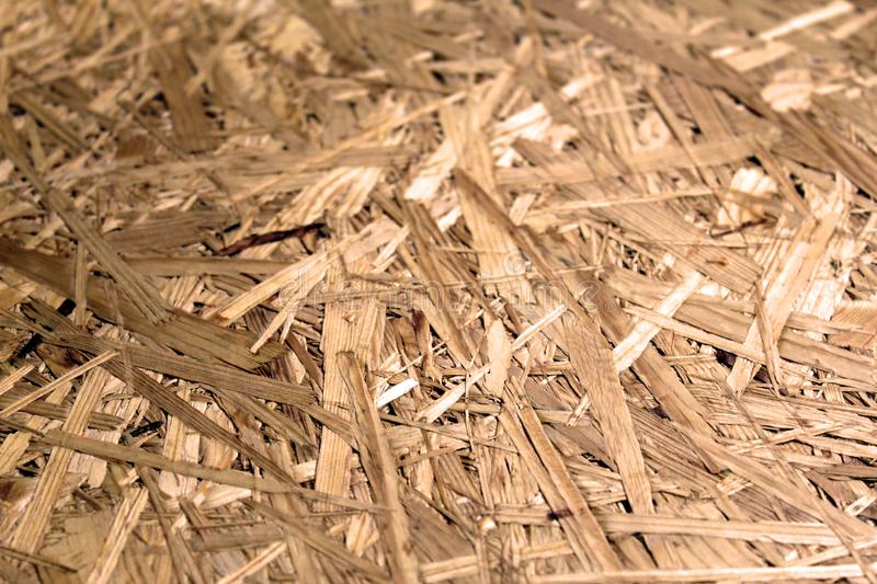 Detail of a board made by pressed wooden chips plywood. Surface stock images
