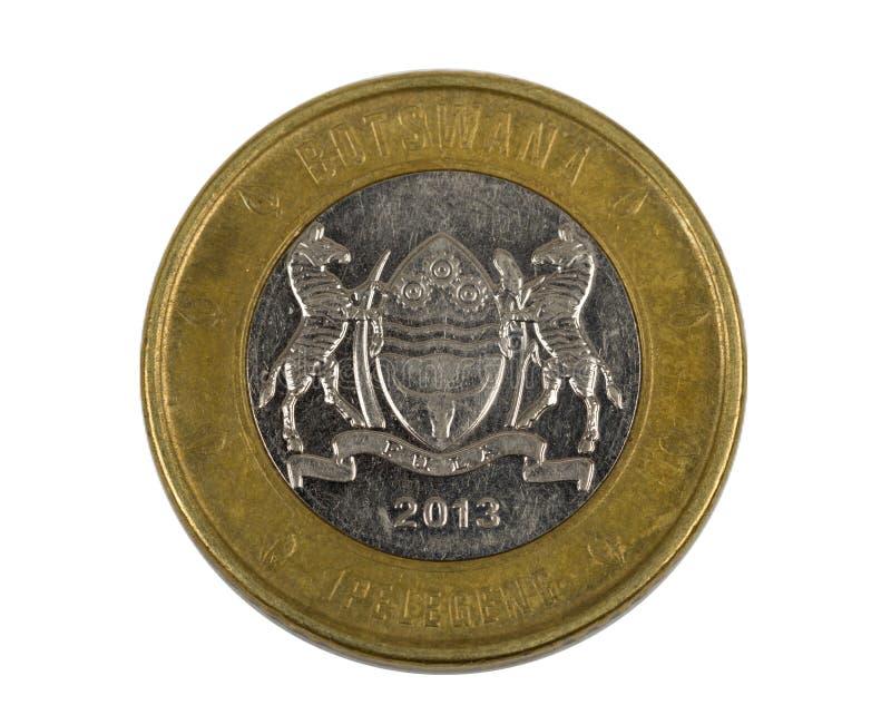 Detail of Botswana Pula coin. Botswana Pula is the national currency of Botswana royalty free stock image