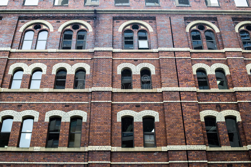 Detail of brick building. stock photography