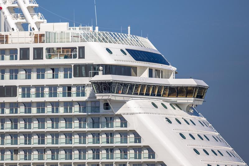 Detail of cruise ship royalty free stock photos