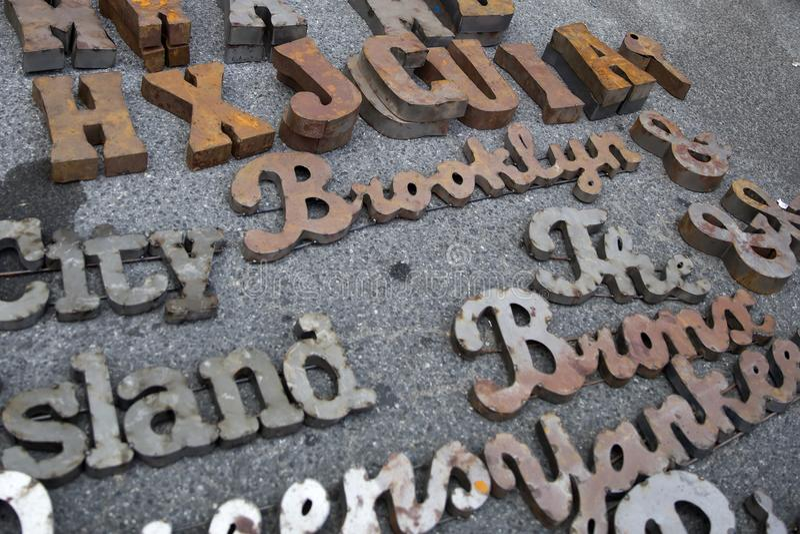 Brooklyn Flea market royalty free stock photography
