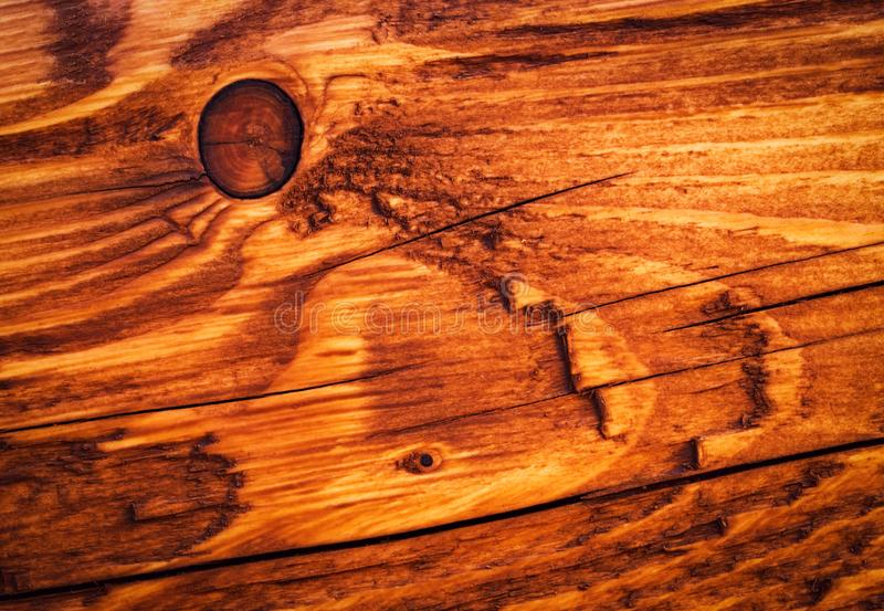 Detail of a brown-painted wooden board stock images