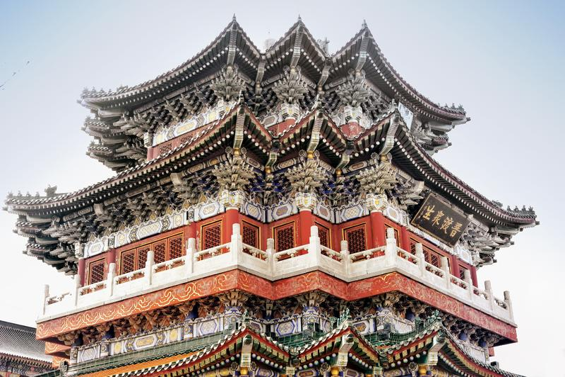 Detail buddhistischen Tianmen-Tempels innerhalb Tianmenshan nationaler Forest Park, Zhangjiajie, Hunan, China stockfotos