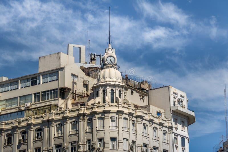 Detail of Building Clock at 9 de julio Avenue - Buenos Aires, Argentina. Detail of Building Clock at 9 de julio Avenue in Buenos Aires, Argentina stock images