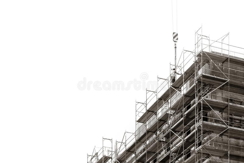 Construction of new buildings detail royalty free stock image