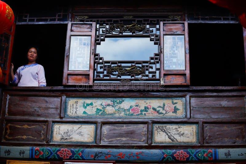 Detail of a building in the historic center of the city of Jianshui, Yunnan, China. Jianshui, Yunnan, China royalty free stock photos