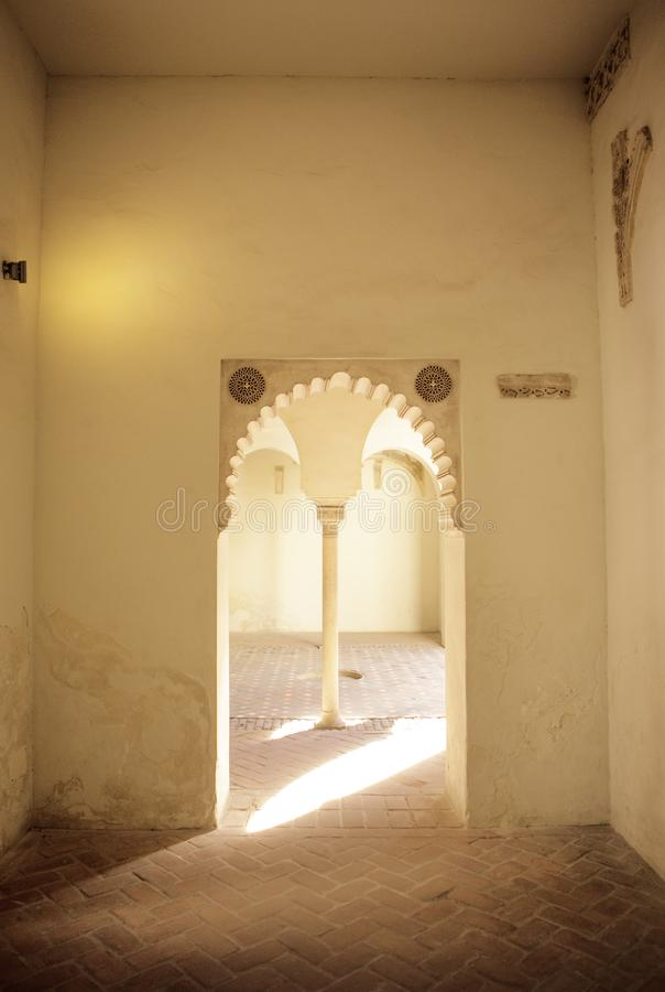 Detail of building in malaga spain royalty free stock images