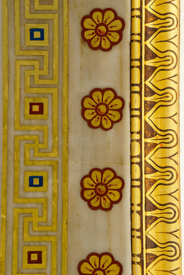 Detail of building of the modern Academy of Athens. stock images