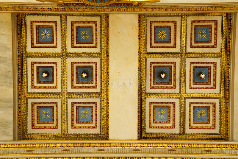 Detail of building of the modern Academy of Athens. stock photos
