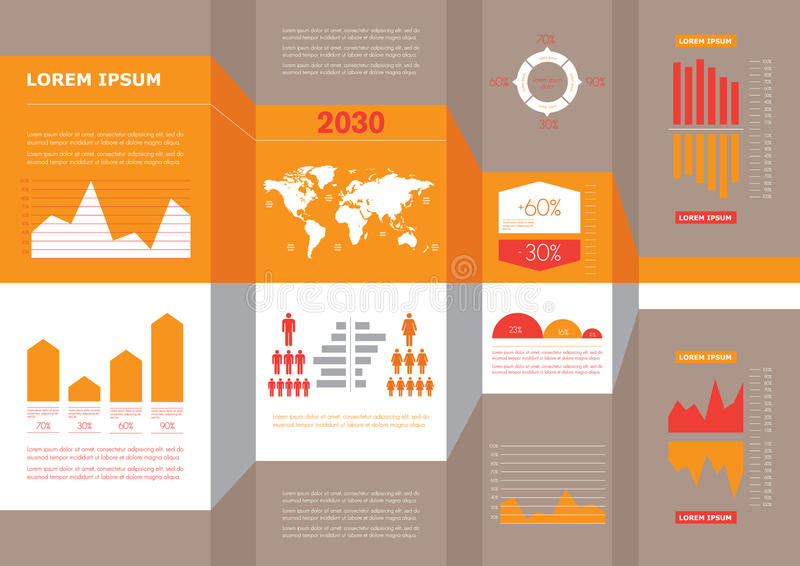 Detail business corporate info graphic royalty free illustration