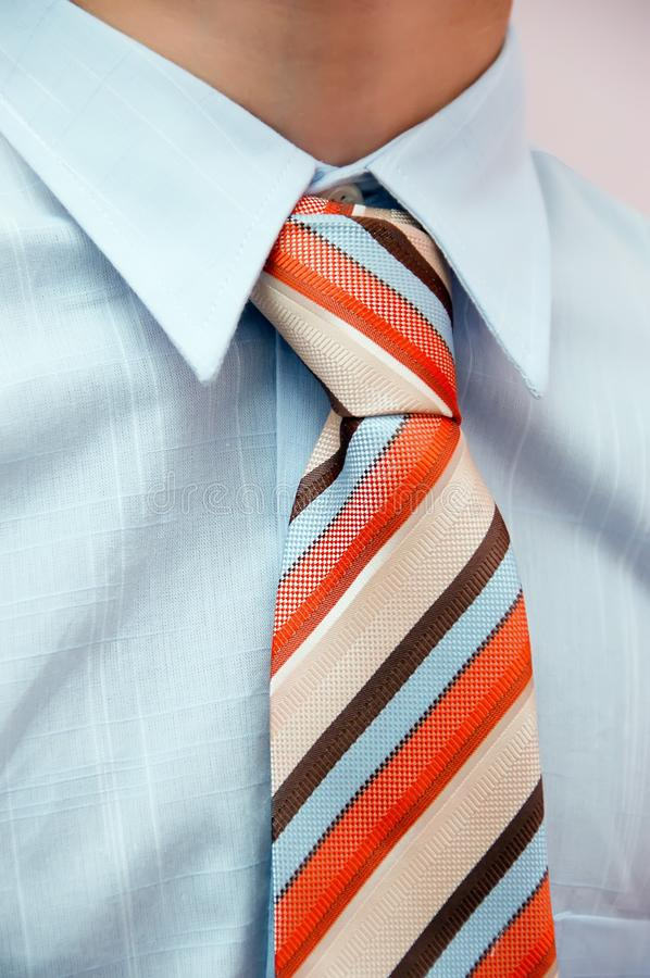 Detail of a business tie royalty free stock image