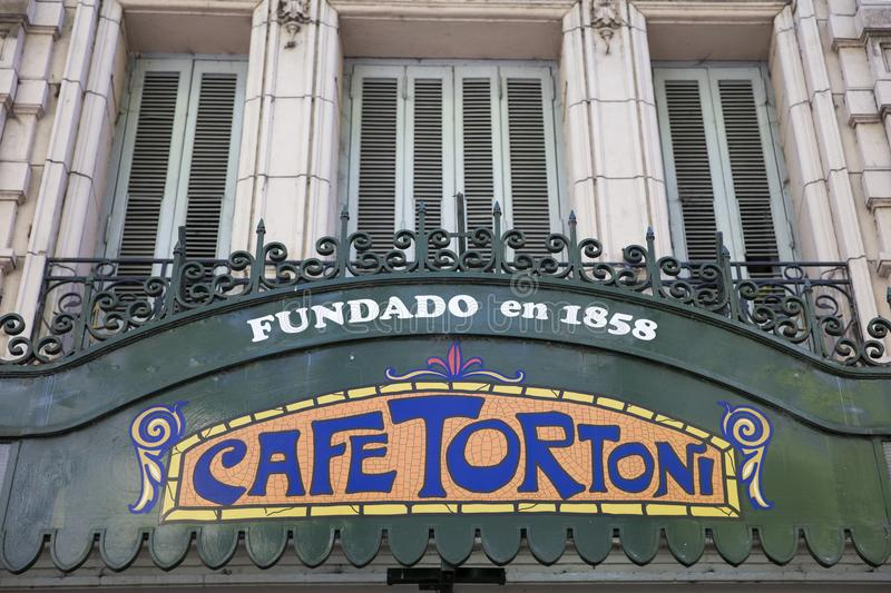Cafe Tortoni in Buenos Aires, Argentina stock images